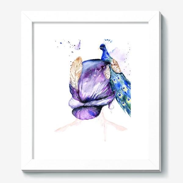 Картина «Девушка с перьями»