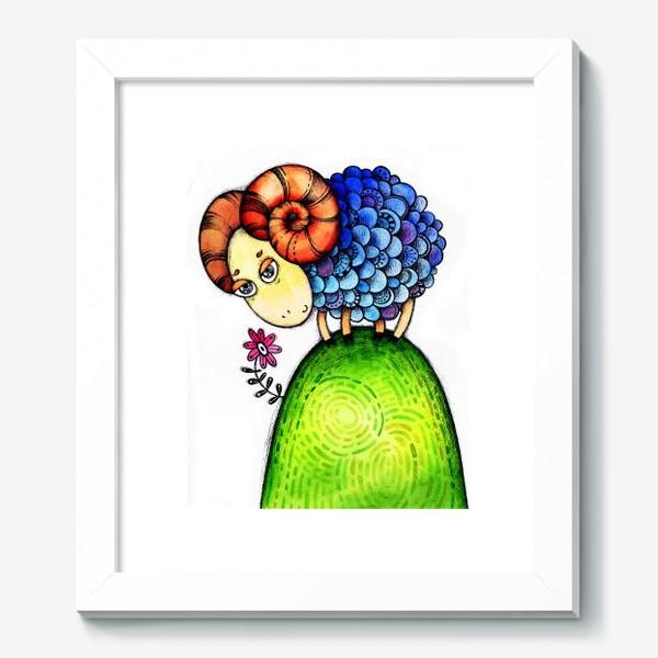Картина «Барашек на лужайке»