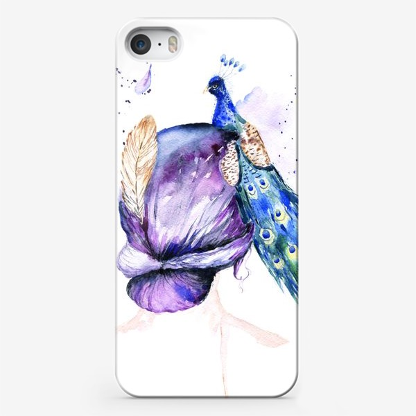 Чехол iPhone «Девушка с перьями»
