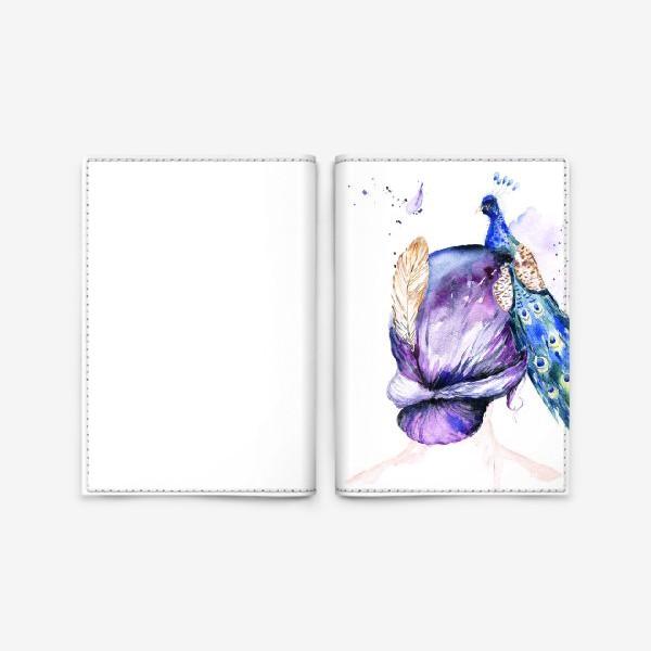 Обложка для паспорта «Девушка с перьями»