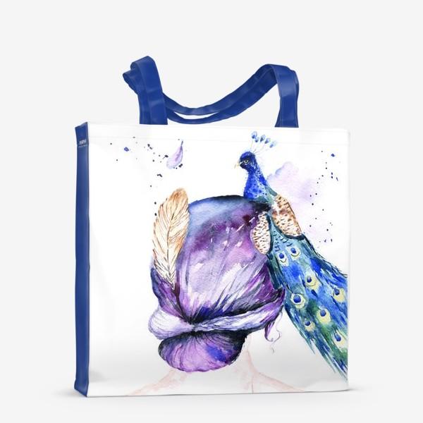 Сумка-шоппер «Девушка с перьями»