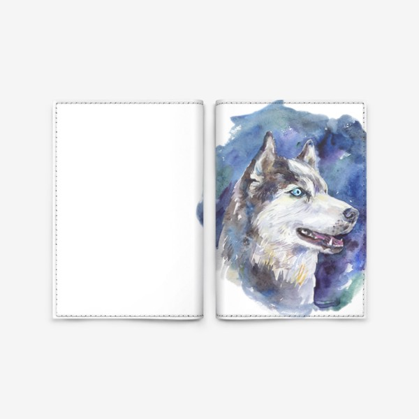 Обложка для паспорта «Хаски»