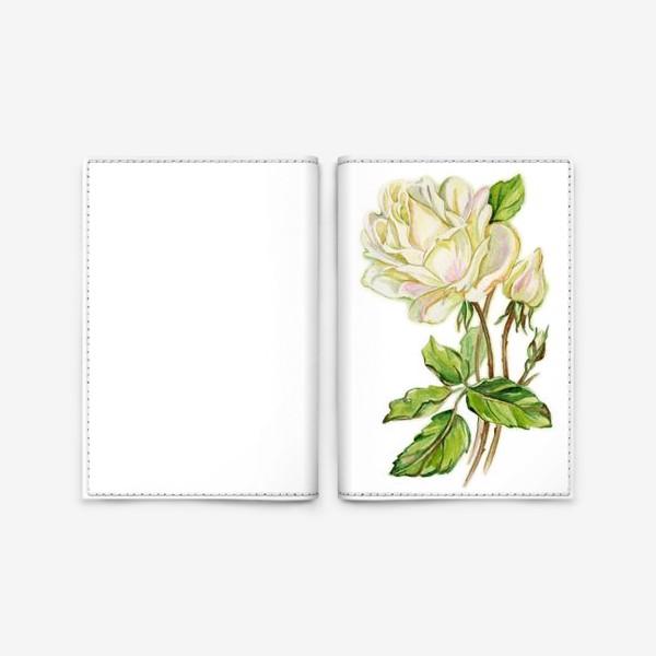 Обложка для паспорта «Белая роза»