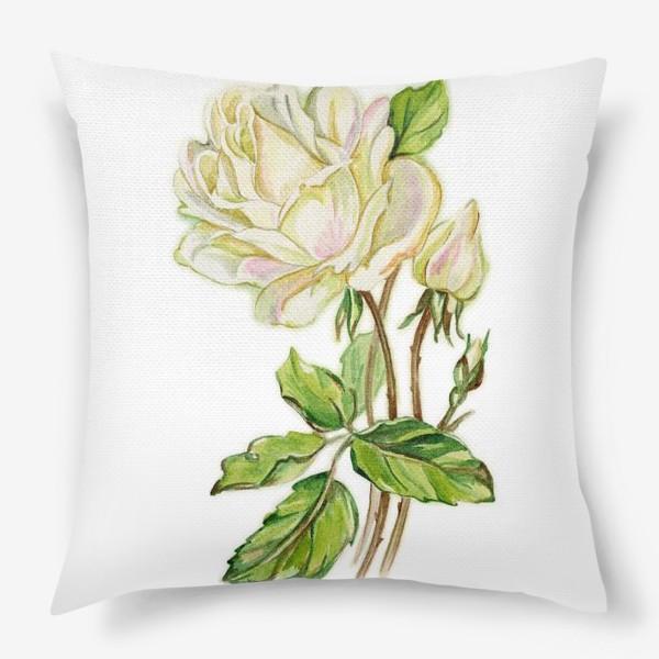 Подушка «Белая роза»