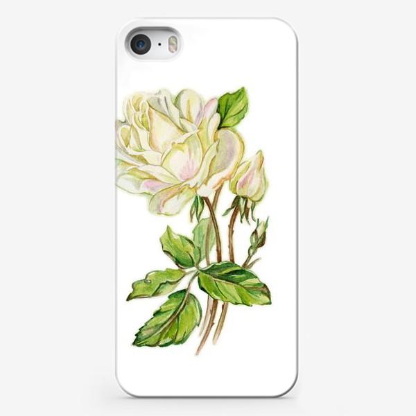 Чехол iPhone «Белая роза»