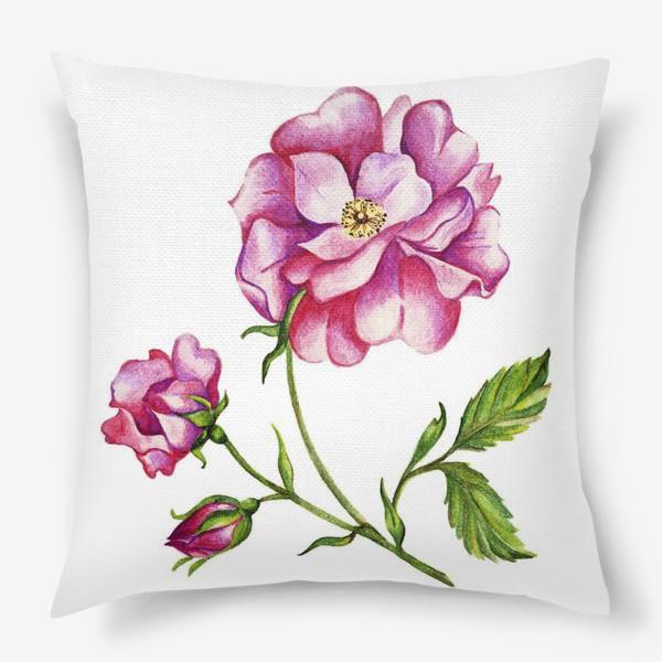 Подушка «Роза шиповника»