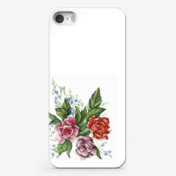 Чехол iPhone «Розы и незабудки»