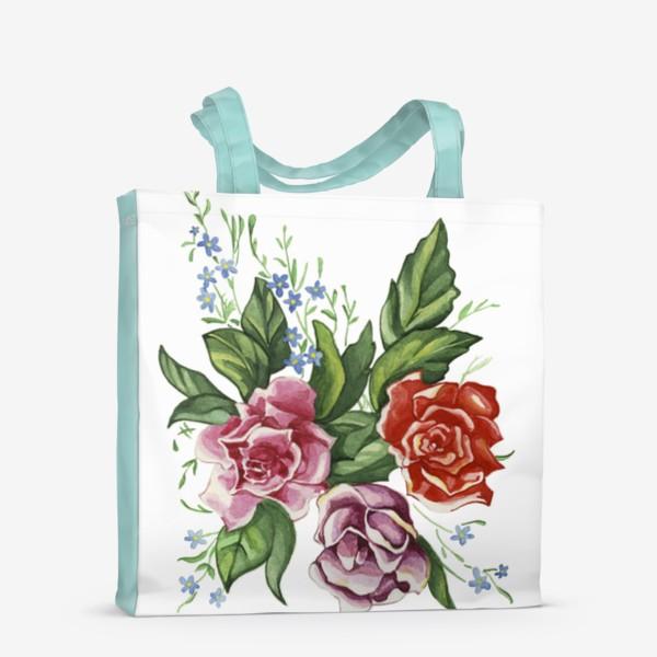 Сумка-шоппер «Розы и незабудки»