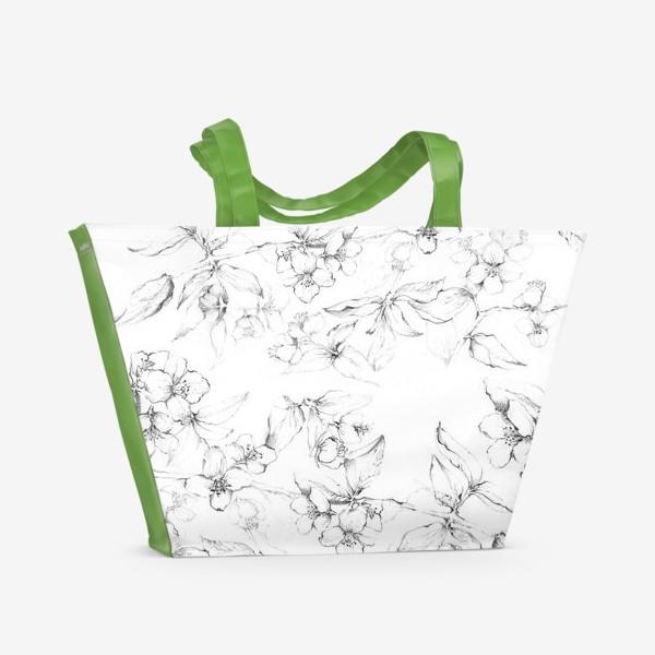 Пляжная сумка «Apple blossom»