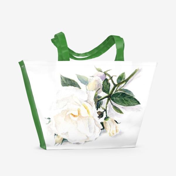 Пляжная сумка «Нежнее нежного. Роза.»
