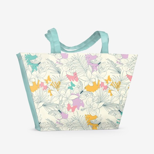 Пляжная сумка «Тропический паттерн»