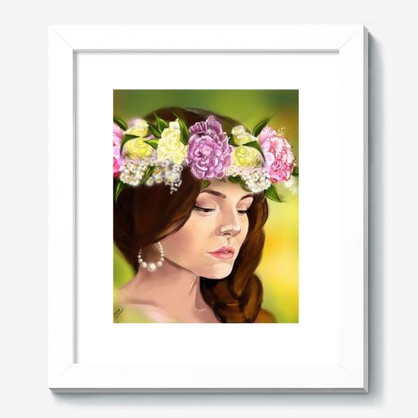 Картина «девушка с цветами»