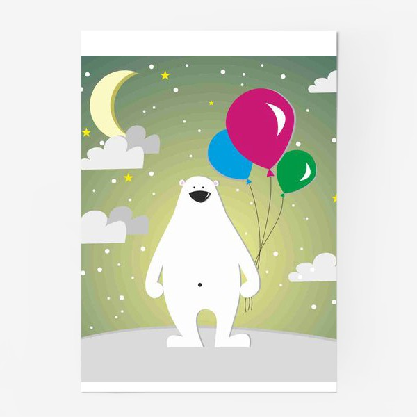 Постер «Полярный мишка»