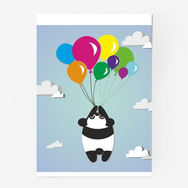 Постер «Летящая панда»