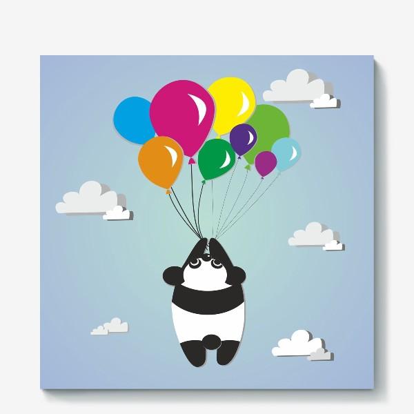 Холст «Летящая панда»