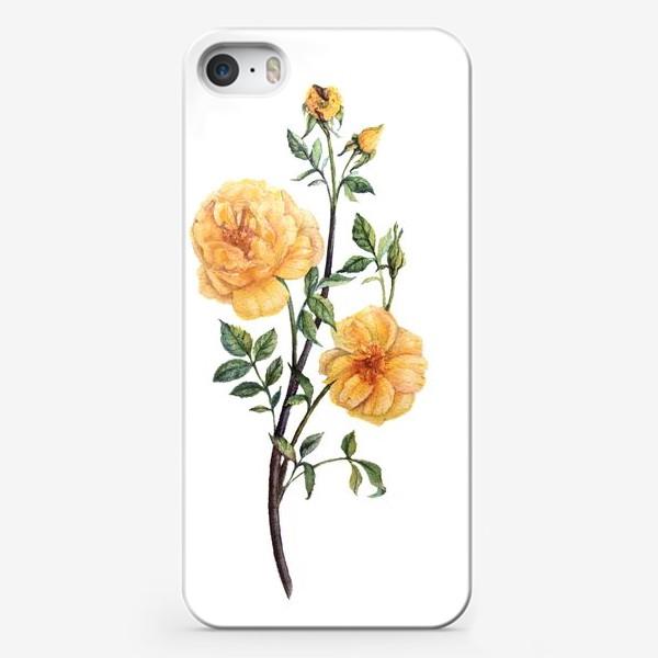 Чехол iPhone «Желтые розы»