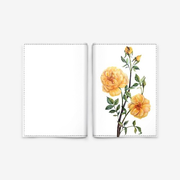 Обложка для паспорта «Желтые розы»