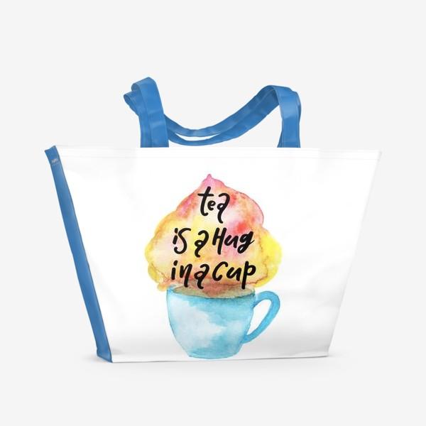 Пляжная сумка «Акварельное сердце»
