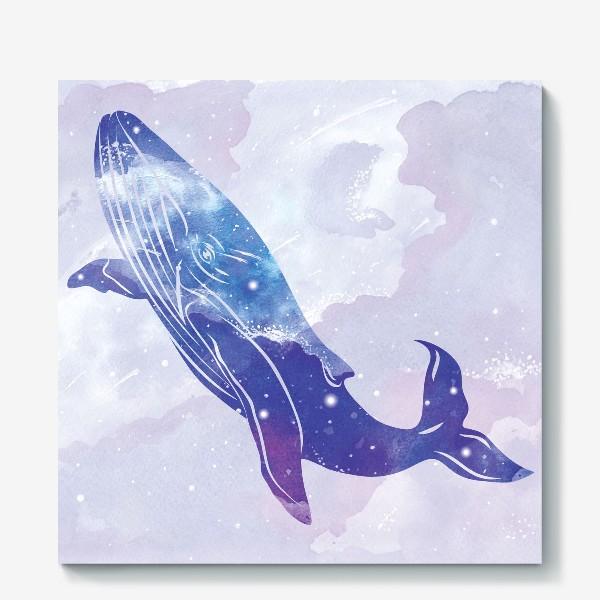 Холст «Космический кит»
