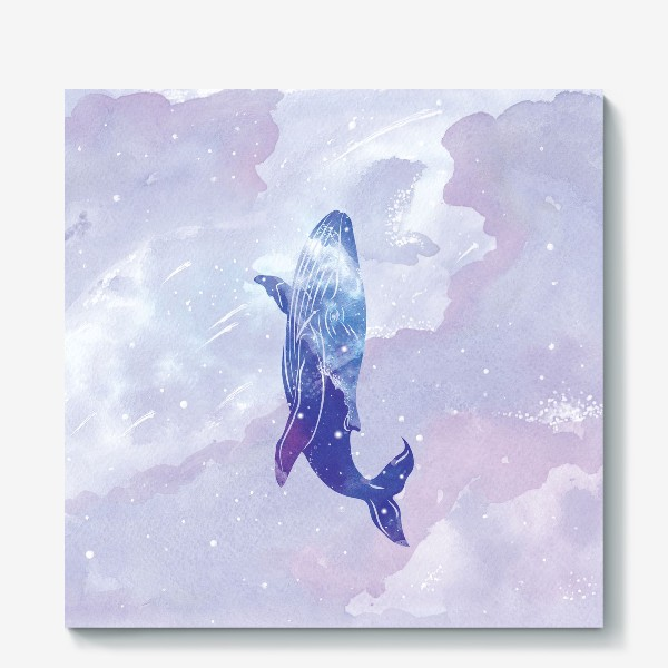 Холст «Кит космический»
