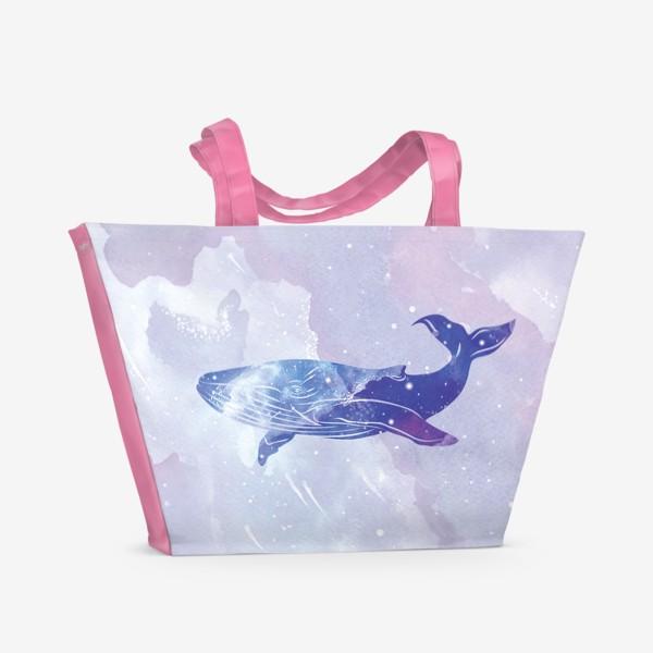 Пляжная сумка «Кит космический»