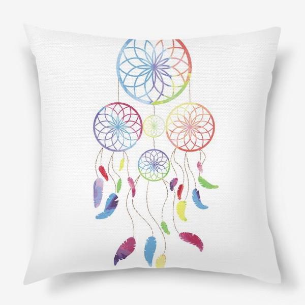 Подушка «Цветной ловец снов»