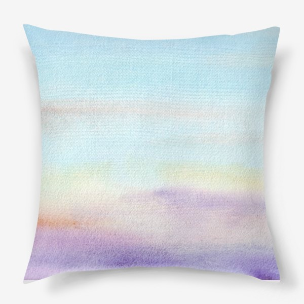 Подушка «акварельное небо»