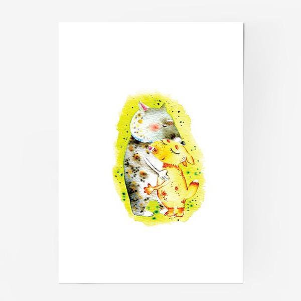 Постер «Волк и лисичка»
