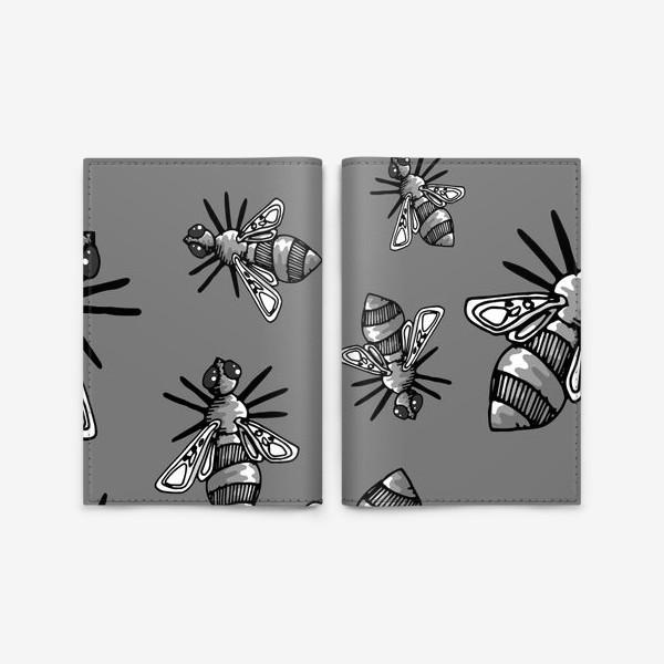 Обложка для паспорта «Bees»