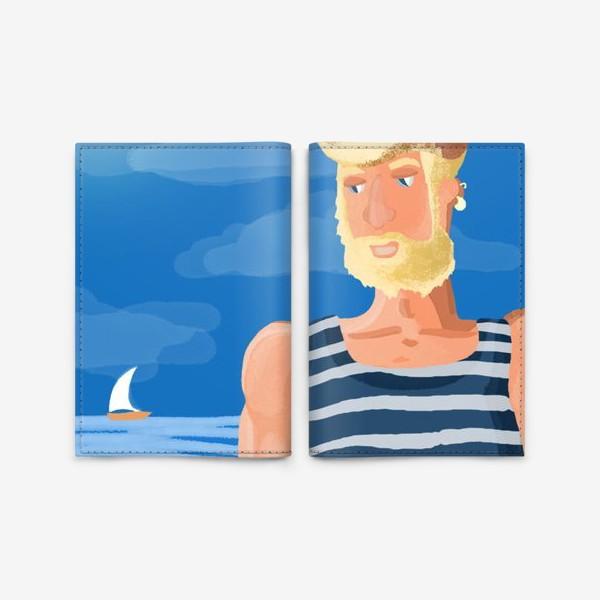 Обложка для паспорта «В мечтах о море»
