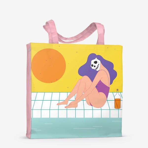 Сумка-шоппер «лето у бассейна»