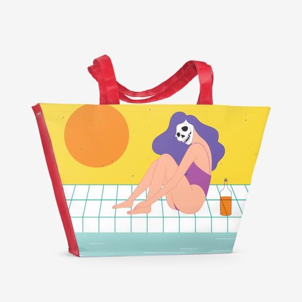 Пляжная сумка «лето у бассейна»