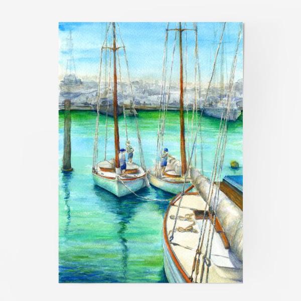 Постер «Море, лодки.»