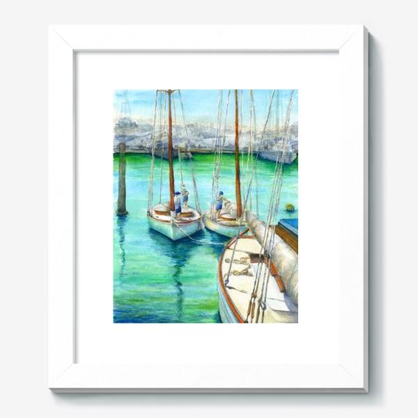 Картина «Море, лодки.»