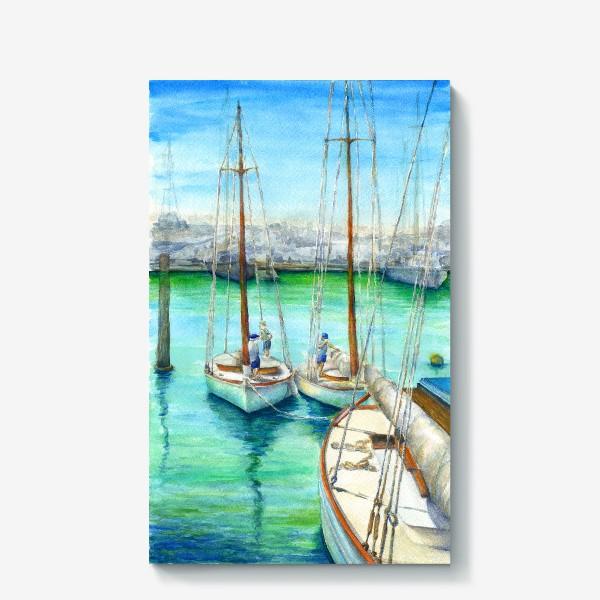 Холст «Море, лодки.»