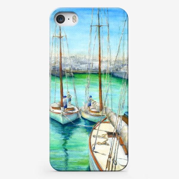 Чехол iPhone «Море, лодки.»