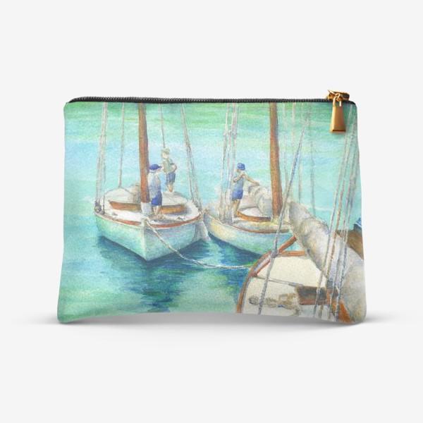 Косметичка «Море, лодки.»