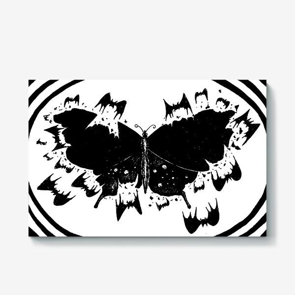 Холст «Черная бабочка»