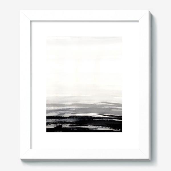 Картина «Черно-белая акварель»