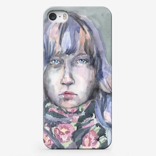 Чехол iPhone «Девушка с цветочным шарфом»