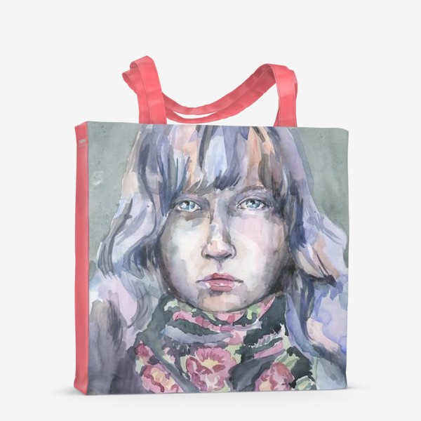 Сумка-шоппер «Девушка с цветочным шарфом»