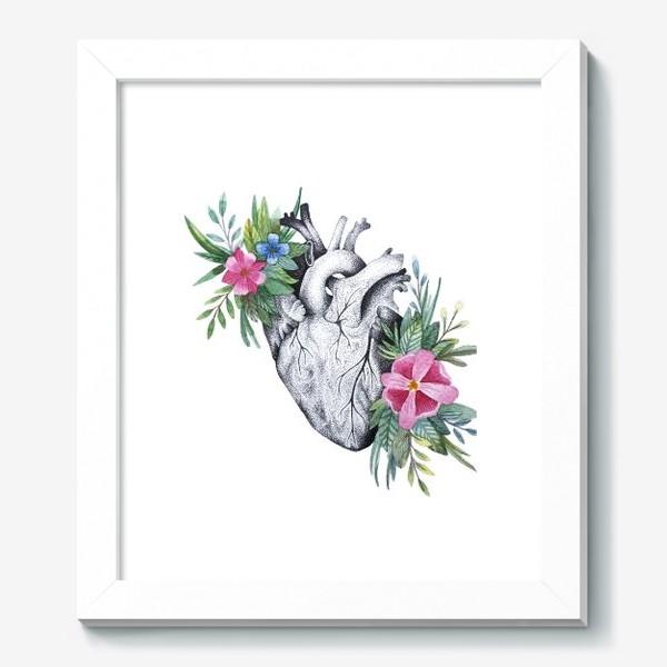 Картина «Сердце и цветы»