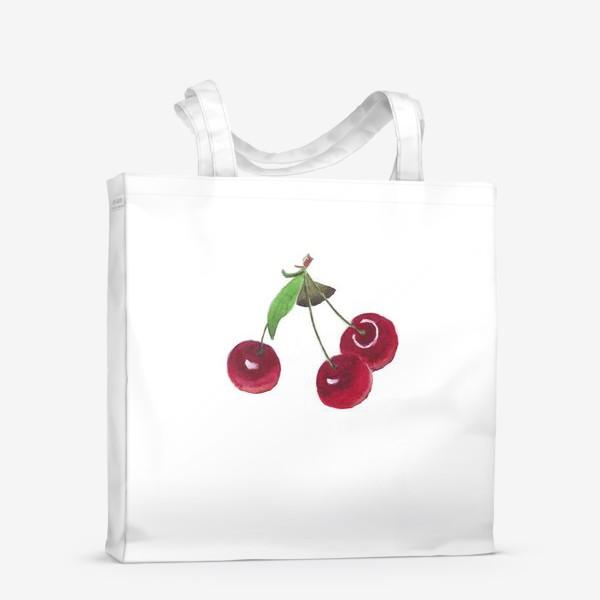 Сумка-шоппер «вишенки»