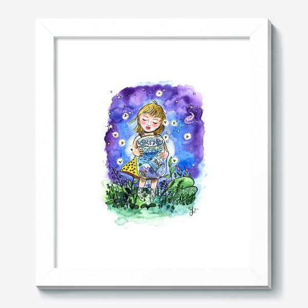 Картина «Девочка и зима в банке»