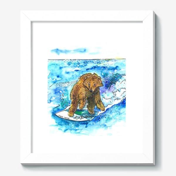 Картина «Медведь на серфе»