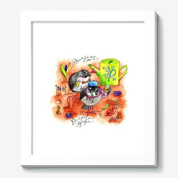 Картина «Синички и первомай»