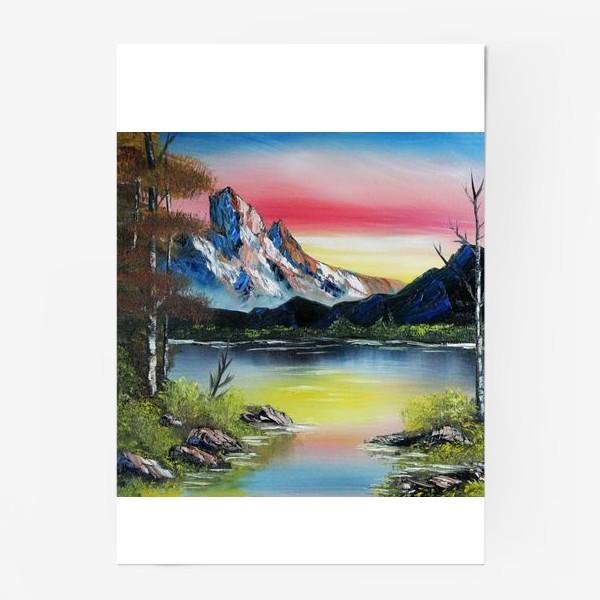 Постер «Горы на закате»