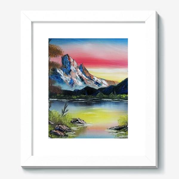 Картина «Горы на закате»