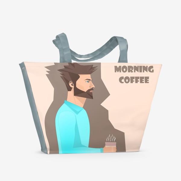 Пляжная сумка «Кофеман»