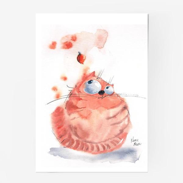 Постер «Осенний кот»